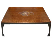 Bowed Chechen-Petrified AZ Coffee Table